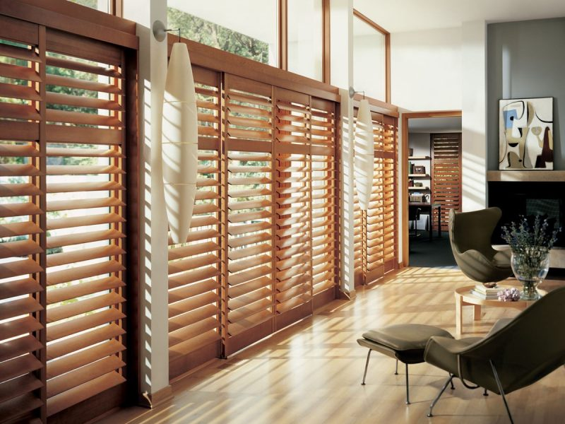 PLANTATION SHUTTERS REAL WOOD